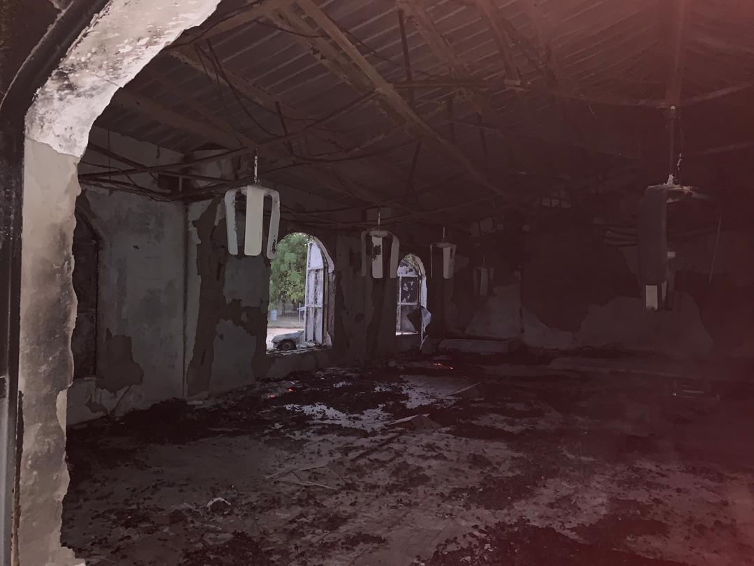 Abgebrannte Kirche