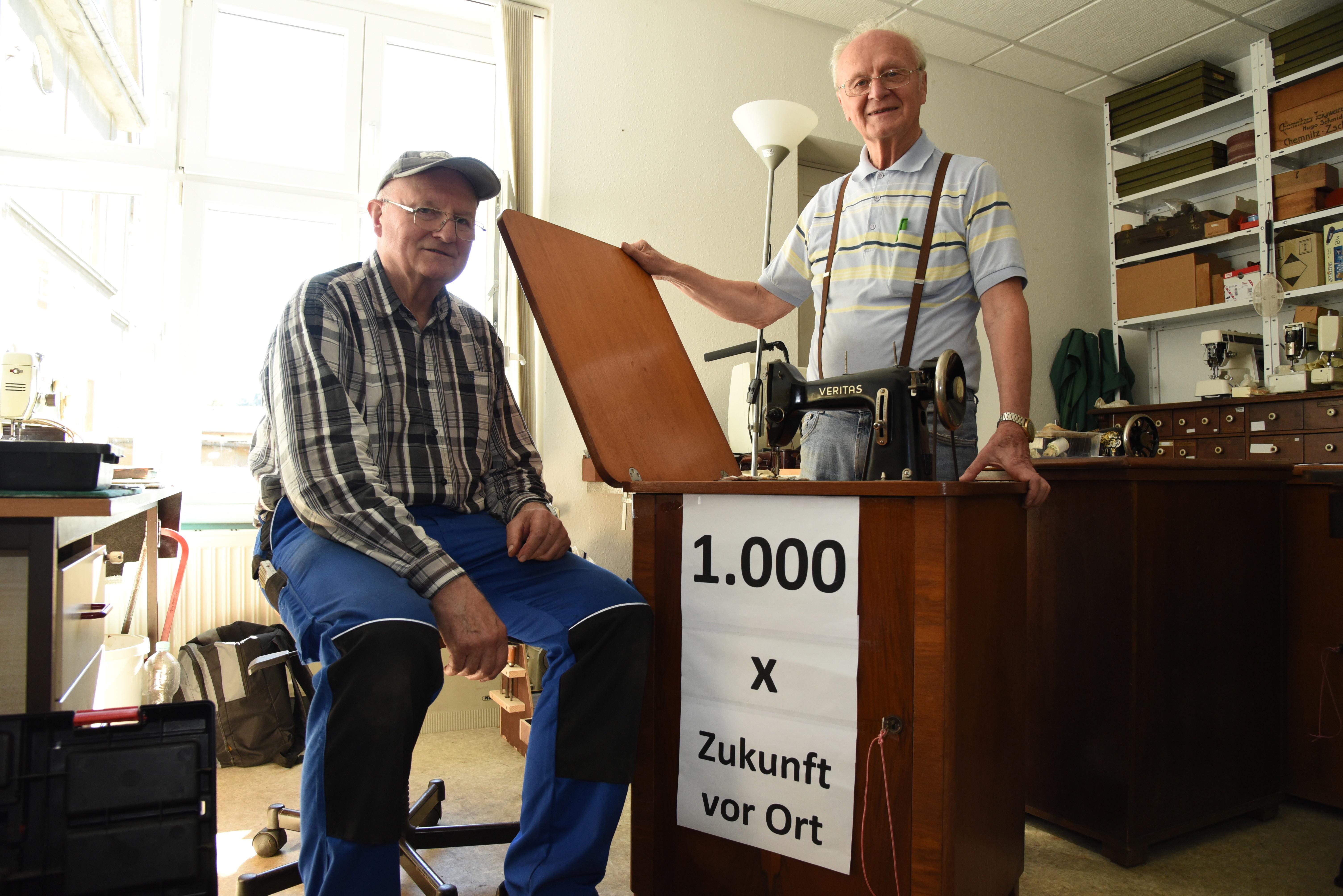 Nähmaschine Nr. 1000 wird repariert!